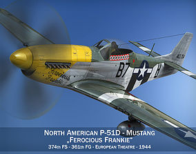 3D model North American P-51D Mustang - Ferocious Frankie