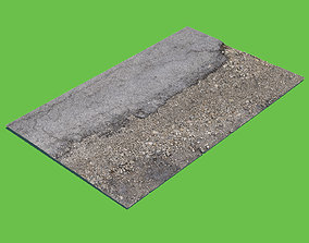 gravel Asphalt and Gravel-3D Scan