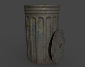 old dustbin 3D model