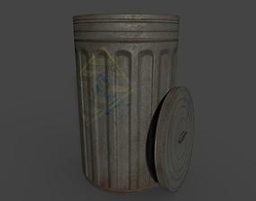 old dustbin 3D asset