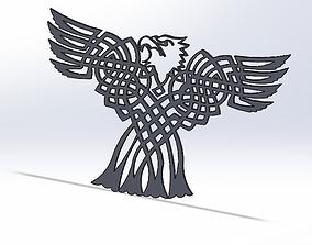 3D printable model Celtic Bald eagle