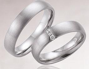Wedding rings 203 3D printable model