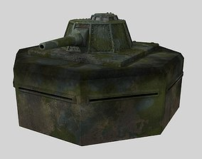 WW II pillbox blockhaus 3D asset