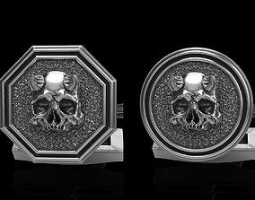 skullring skull cufflinks 2 3D model