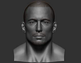 render Realistic Male Head 3D