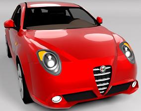 ALFA ROMEO MITO LOWPOLY 3D model