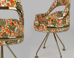 Doop floral Chair 3D model