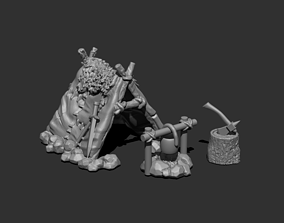 3D print model Miniature Camping Place for 28mm games