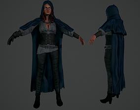 Witch 3D asset