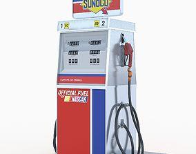 3D Sunoco fuel dispenser