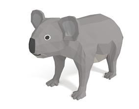 3D model Low Poly Cartoon Koala