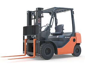 3D model Toyota Core IC Pneumatic Forklift