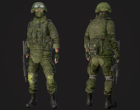 Soldier in equipment Ratnik 3D asset rigged