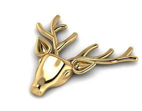 deer brooches 3D print model