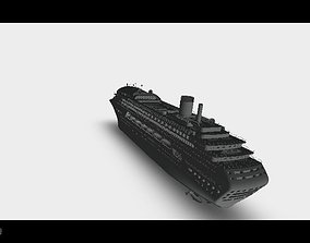 Big cruise liner 3D print model