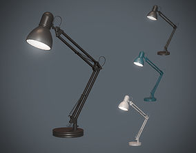 Table lamp 3D model game-ready