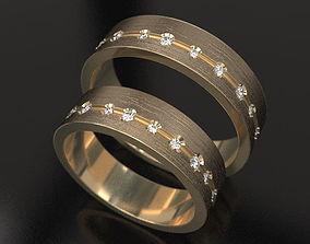 Key wedding bands 3D print model