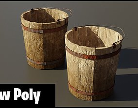 3D asset VR / AR ready Medieval bucket
