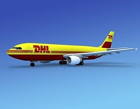3D model Airbus A300 DHL Cargo2