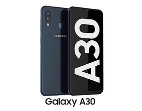 3D model Samsung Galaxy A30 Black