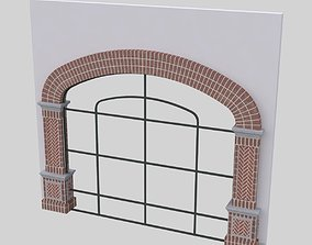 ARCHED WINDOW STOREFRONT FULL HEIGHT 3D model