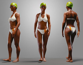 3D model SwimmingpoolgirlBCasualA