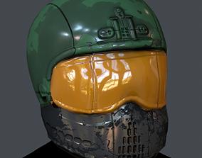 Gas mask helmet 3d model scifi Low-poly low-poly 2