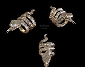 Luxury Snake Ring 3D print model