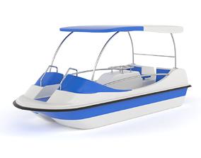 3D model Fiberglass Pedal Boat