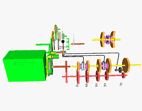 IC motor transmission 3D printable model