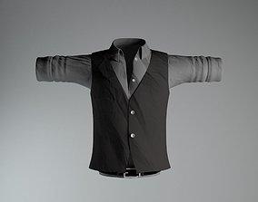 Shirt Belt Vest 3D