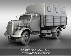 3D military Opel Blitz - 3t Cargo truck