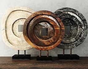 3D Suar Wood Table Top Decoration