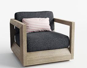 Paloma Teak Lounge Chair 3D