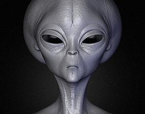 Realistic Alien 3 Sculpt 3D
