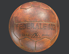 3D Vintage Soccer Ball Federale 102 Italy 1934