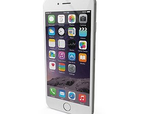 Apple iPhone 6s Silver 3D asset