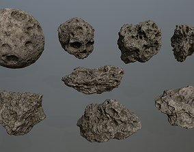 Asteroid Set 3D model game-ready