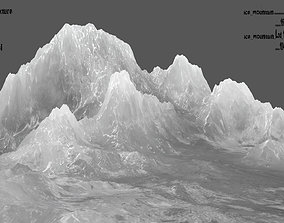 ice mountain 3D model