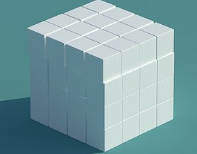 Cube of Slightly Rounded Cubes 3D