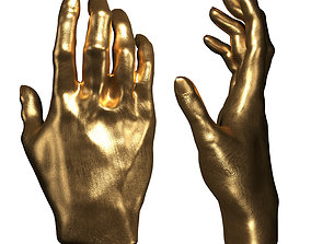 3D Kare Deco Object Mano Gold