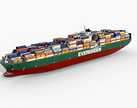 Container ship Evergreen 3D model
