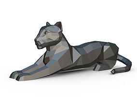 leopard figure 3D print model