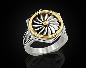 3D print model Ring turbine in nut