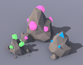 Low Poly Ore 3D model