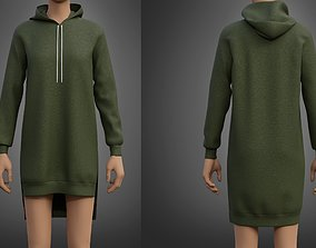 Hood Sweater Dress 3D