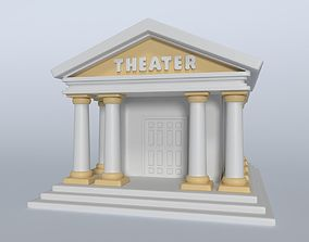 3D asset Cartoon Theater
