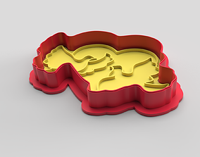 3D print model Cookie cutter and stamp - Doves and