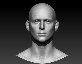 base mesh head 3D model