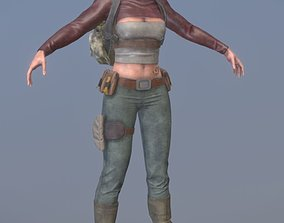 3D model Rigged Female Survivor B